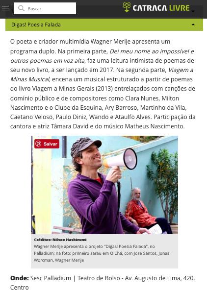 Digas! Poesia Falada_Sesc Palladium_Merije_Catraca Livre