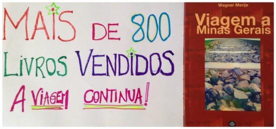 Mais de 800 livros vendidos_Viagem a Minas Gerais