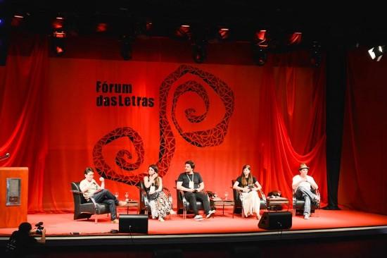 Forum das Letras_Nino Stutz_Marina Carvalho_Pedro Gabriel_Clarice Freire_Wagner Merije_Foto Leo Jobs
