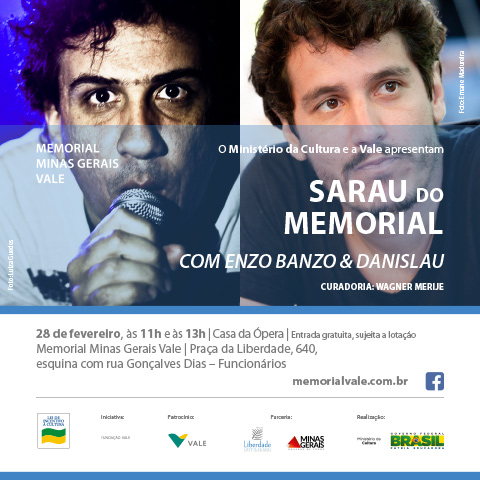 Sarau do Memorial com Enzo Banzo e Danislau