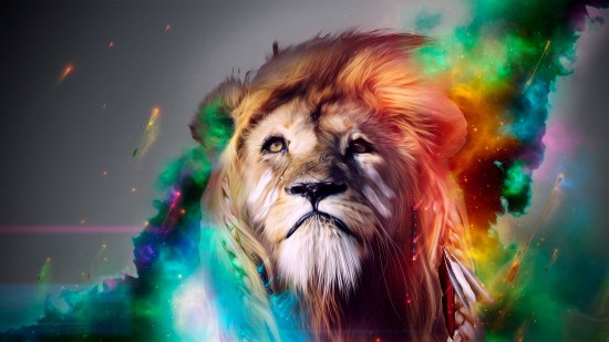 hd_multicolor_lion_designed__uenaoxch_by_uenaoxch-d5yrler