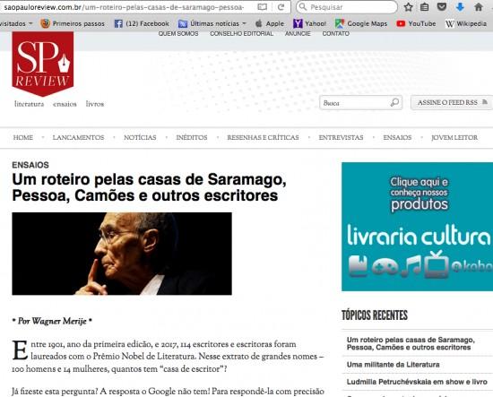 Um roteiro pelas casas de Saramago Pessoa Camões e outros escritores_SP Review